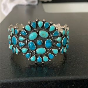 Jewelry - Turquoise and silver Native American Indian cuff